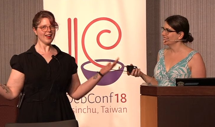 Karen Sandler and Molly de Blanc present at DebConf18