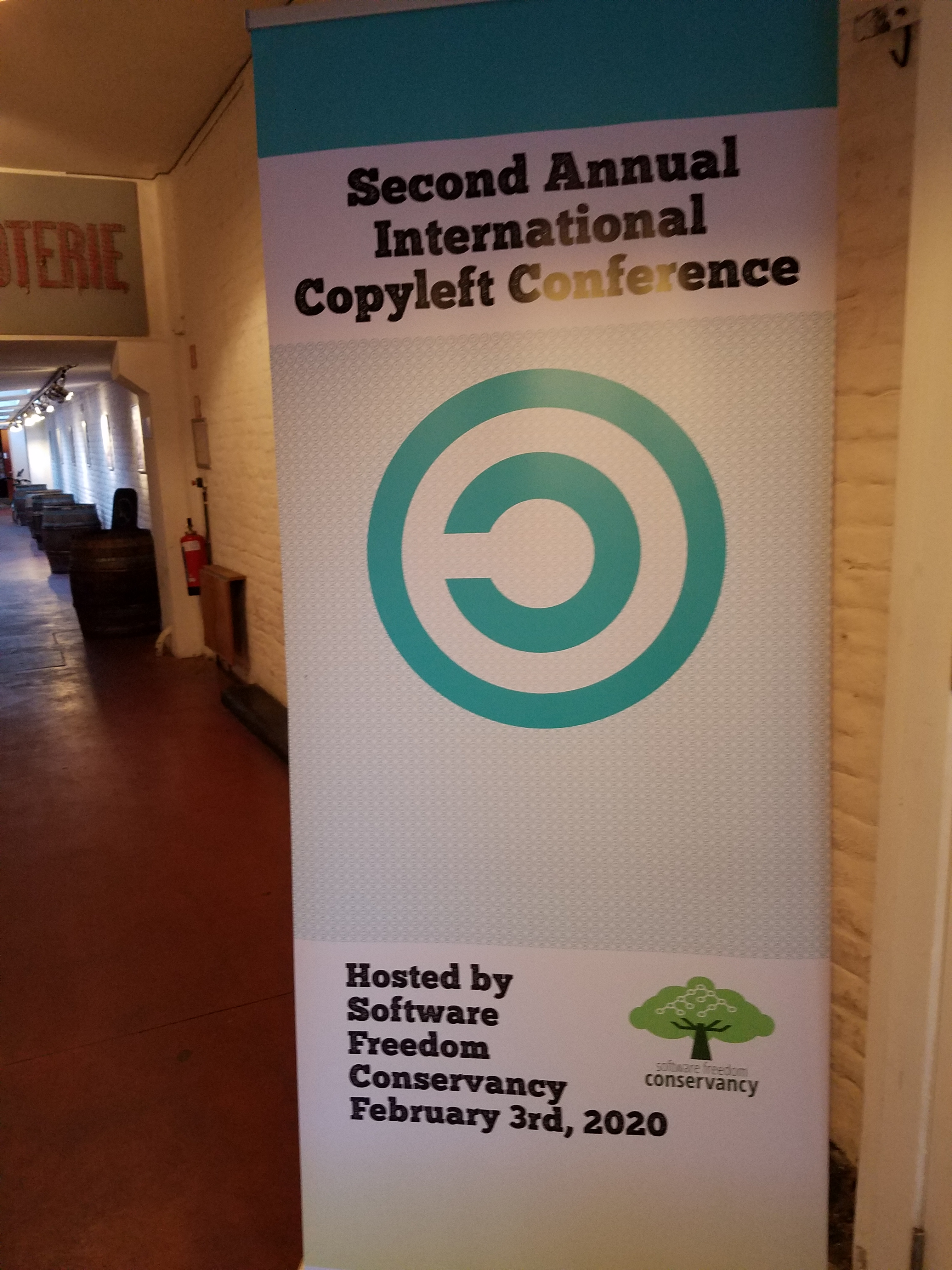 Sign that says Second Annual Copyleft